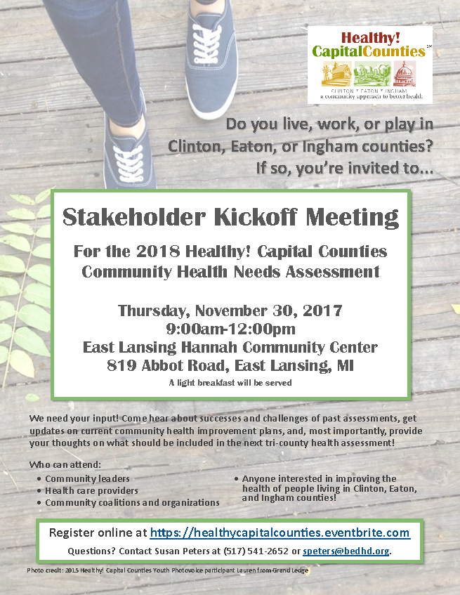 Youre Invited to the 2018 Stakeholder Kickoff Meeting Healthy